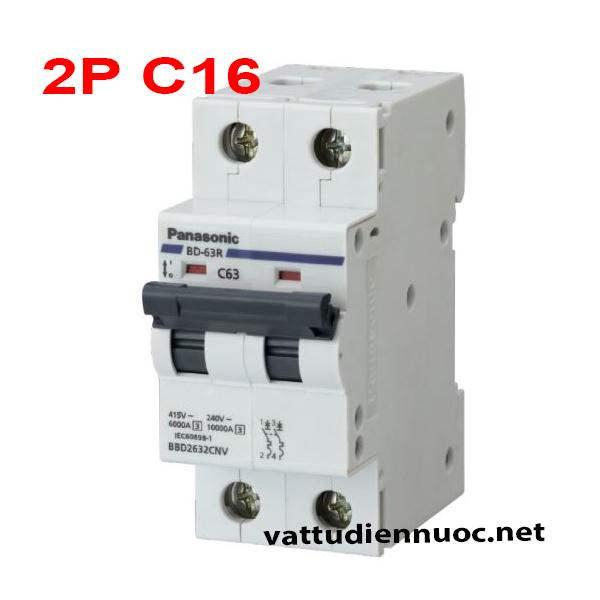 MCB 2P C16 PANASONIC – Thiết Bị Đóng Cắt 2 Cực 16 Ampe Panasonic