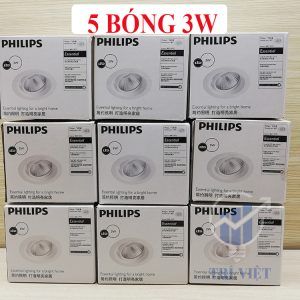 5 bóng led 3W philips