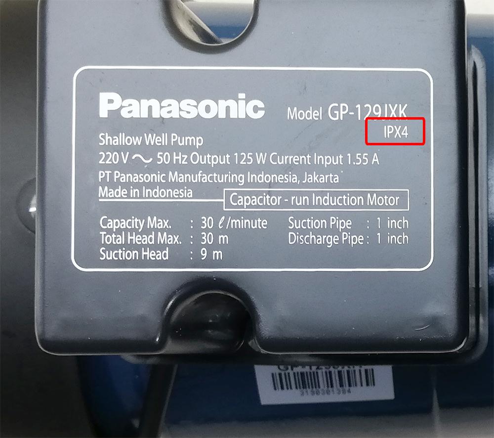 ipx4-trên-máy-bơm-panasonic