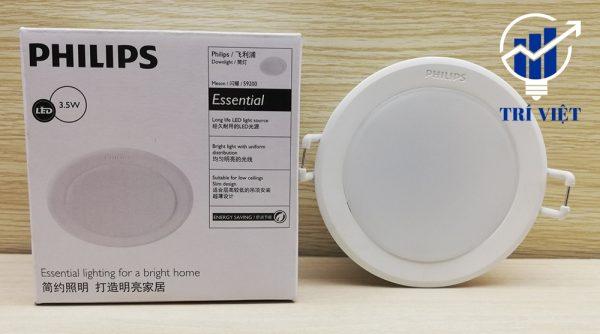đèn âm trần philips 3.5 chính hãng