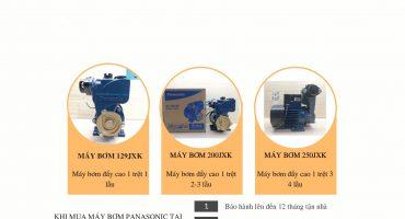 Bảng giá máy bơm nước đẩy cao Panasonic 2020