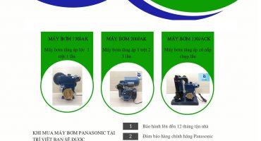 Bảng giá máy bơm nước tăng áp Panasonic 2020