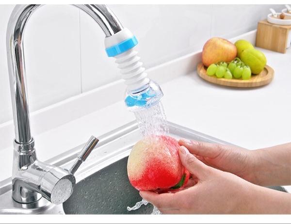 Đầu nối vòi nước chậu rửa bát xoay 360 độ bằng nhựa